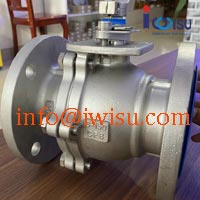 WCB FLANGE 2PC FULL BORE BALL VALVE ANSI 150