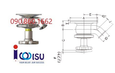 Manual Flange Integrated Tank Valves - NBS-TBW-MW Osaka