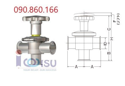 Manual T type Diaphragm Valves - NBS-T-MW Osaka