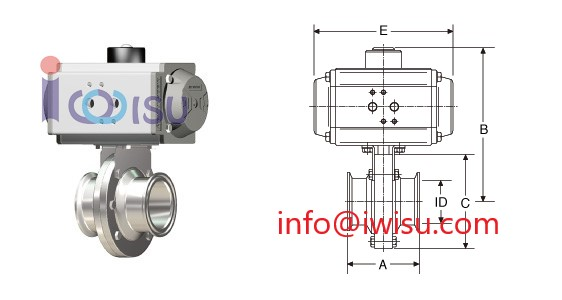 Pneumatic Operation Butterfly valves RB-PS Osaka