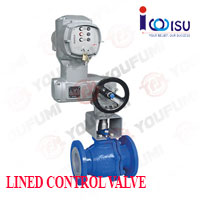 YOUFUMI ELECTRIC LINED O PORT BALL VALVE
