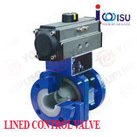 YOUFUMI PFA LINED V PORT BALL VALVE