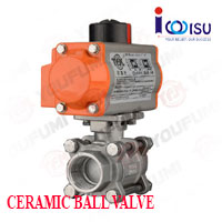 YOUFUMI PNEUMATIC 3 PC CERAMIC BALL VALVE
