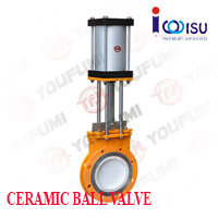 YOUFUMI PNEUMATIC CERAMIC KNIFE GATE VALVE