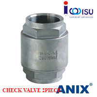 SS316 2 PIECE SPRING LOADED CHECK VALVE ANIX