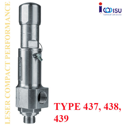 LESER COMPACT PERFORMANCE SAFETY VALVES OF TYPE 437, 438, 439