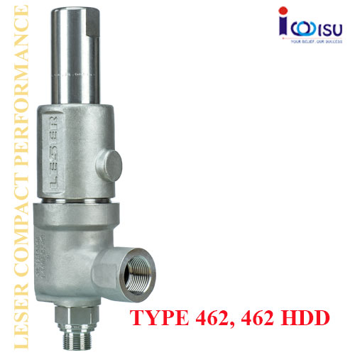 LESER COMPACT PERFORMANCE SAFETY VALVES OF TYPE 462, 462HDD