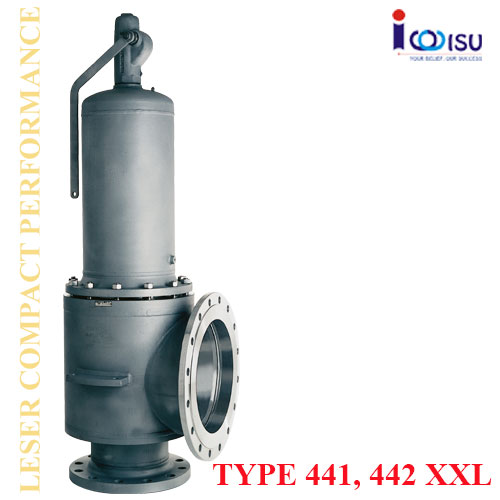 LESER HIGH PERFORMANCE SAFETY VALVES OF TYPE 441 XXL, 442 XXL