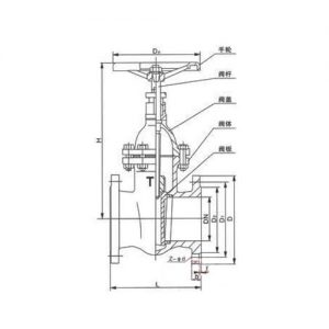 RUBBER SEAT GATE VALVE MAIN CONNECTION DIMENSIONS