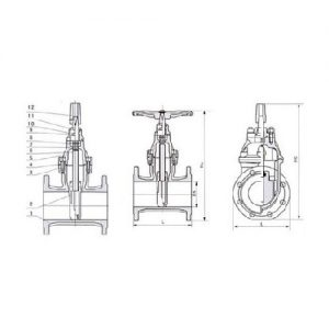 BURIED TYPE GATE VALVE TECHNICAL PARAMETERS