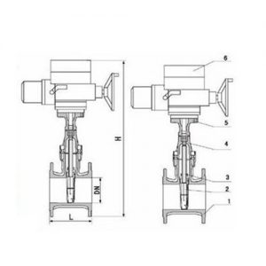 Z945X-10Q ELECTRIC GATE VALVE MAIN CONNECTION DIMENSIONS