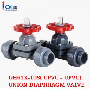 CPVC UNION DIAPHRAGM VALVE