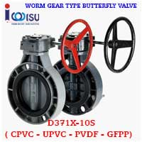 D371X-10S GFPP BUTTERFLY VALVE