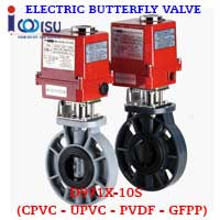 D971X-10S UPVC ELECTRIC BUTTERFLY VALVE