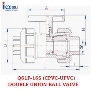DOUBLE UNION BALL VALVE 16S