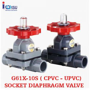 SOCKET UPVC DIAPHRAGM VALVE