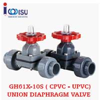 GH61X-10S UPVC UNION DIAPHRAGM VALVE