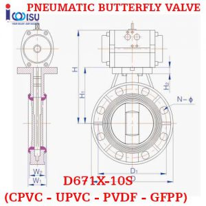 PNEUMATIC BUTTERFLY VALVE PVDF
