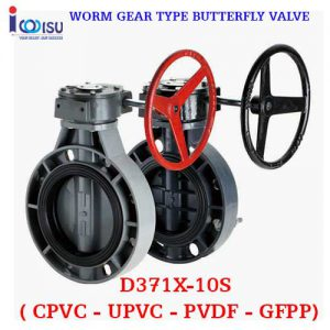 WORM GEAR TYPE BUTTERFLY VALVE D371X-10S