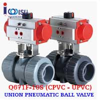 Q671F-10S UPVC PNEUMATIC BALL VALVE