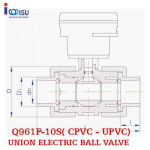 UNION ELECTRIC BALL VALVE CPVC