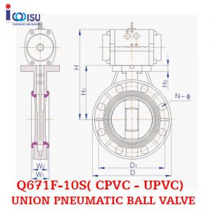 PNEUMATIC BALL VALVE UPVC