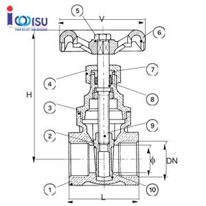 DESCRIPTION BRONE GATE VALVE