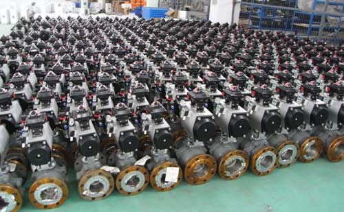 Pneumatic seat ball valve Product display