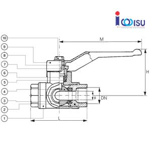 brass ball valve 3 way-art 449