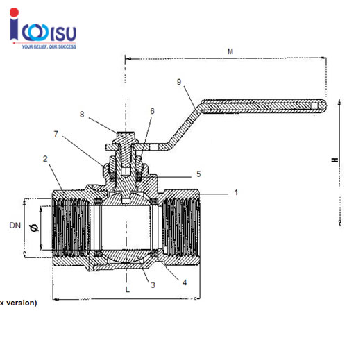 bronze full bore ball valve-art 460