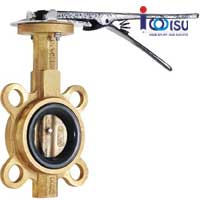 WAFER TYPE BUTTERFLY VALVE ALUMINIUM BRONZE ANSI 150