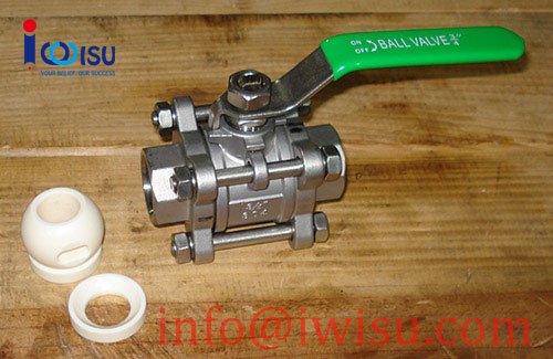 3 PIECE THREADED CERAMIC BALL VALVES - 2