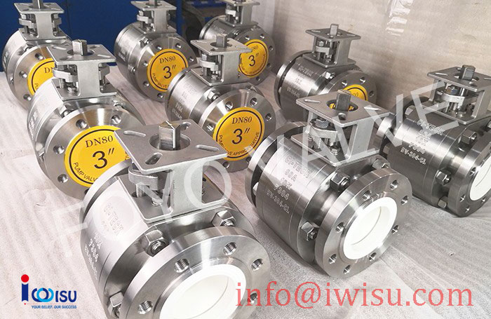JIS 10K BARE STEM CERAMIC BALL VALVES - 2