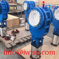 PNEUMATIC CERAMIC DOUBLE GATE VALVES FOR FLY ASH
