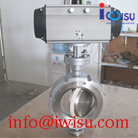 PNEUMATIC WAFER TYPE CERAMIC BUTTERFLY VALVES