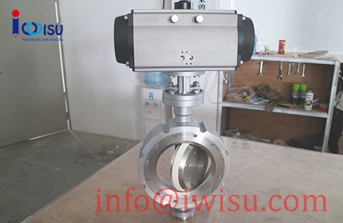 PNEUMATIC WAFER TYPE CERAMIC BUTTERFLY VALVES - 4