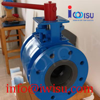 SI3N4 SILICON NITRIDE LINED CERAMIC BALL VALVE