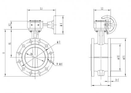 DN200 RUBBER SEAT BUTTERFLY VALVES